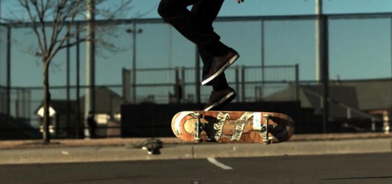1000 кадров в секунду скейтбординг