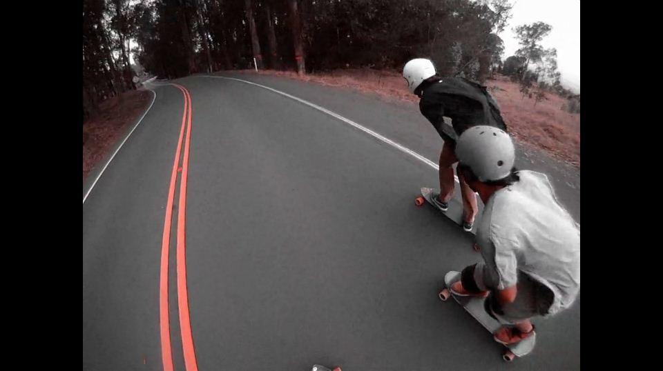 Longboard video снятое на Haleakala