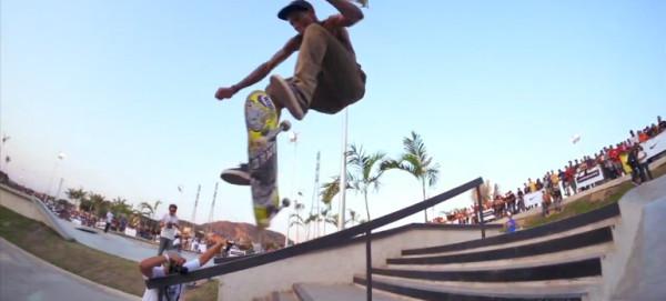 Paul Rodriguez приветствует Oliveira в nike skateboarding в Бразилии